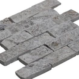 Mosaıc 4,8x10 SplitFace Tumbled Silver 30*30